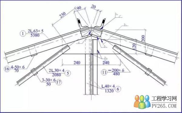 知识文章 建筑知识 超实用的钢结构识图指南    ★ 支座节点图
