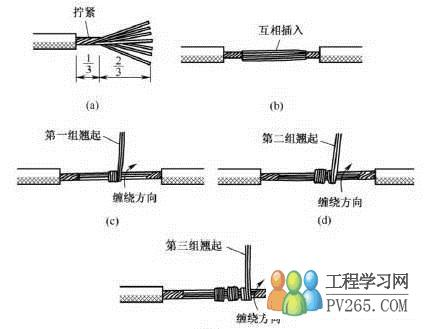 十平方电线接头连接方法图片