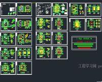 3套农村别墅结构图CAD