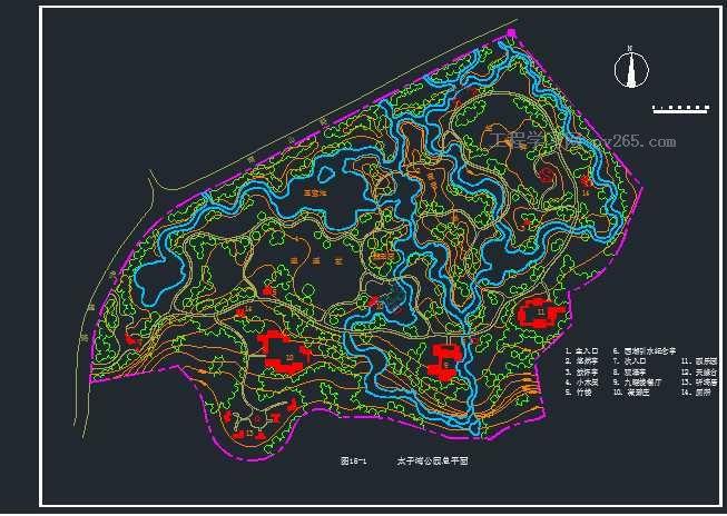太子湾公园CAD图纸