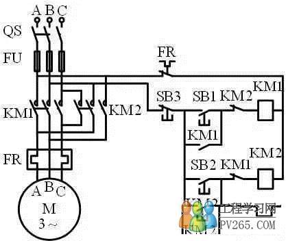 km2控制电动机正反转电路