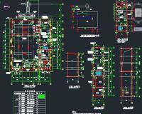 全套锅炉房施工图(锅炉房,烟囱及换热站设计图纸)