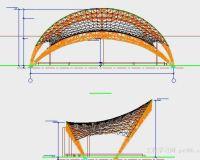管桁架膜结构施工图