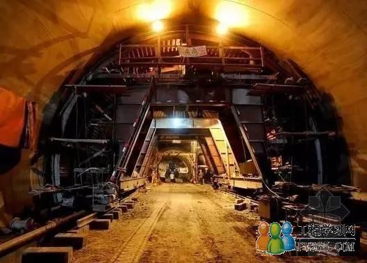 隧道Ⅲ级围岩地段采用全断面法施工,Ⅳ,Ⅴ级围岩地段采用台阶法开挖.