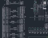 132kW电动机变频调速控制图 电气控制原理图