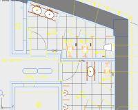 平顶山银行卫生间平立面效果CAD图纸