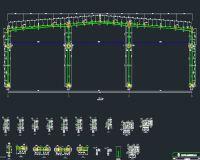 63*70米钢结构车间图纸(带行车)