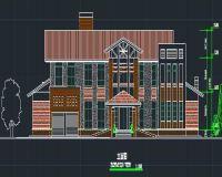 两层独立别墅方案设计 CAD图纸及效果图