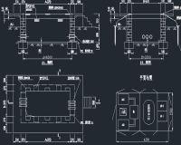 箱式变电站630KVA箱变基础图、平面图、系统图