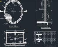 各种容积蓄水池施工图纸、高位水池设计图